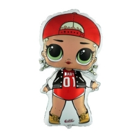 """Фольгированная фигура """"Кукла LOL - MC SWAG"""" (85 см)"""