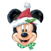 """Фольгированный шар """"Микки Санта"""" (69 см)"""
