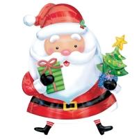 """Фольгированный шар """"Санта с елкой"""" (71 см)"""