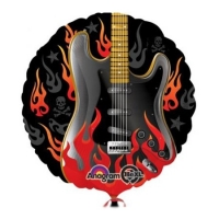 """Фольгированный шар """"Рок гитара"""" (46 см)"""
