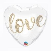 """Фольгированный шар сердце """"Love"""" (46 см)"""