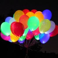 Разноцветные светящиеся шары  30 см
