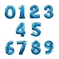 """Фольгированные шары """"Цифры"""" синие (102см)"""