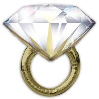 """Фольгированный шар """"Кольцо с бриллиантом"""" (91 см)"""