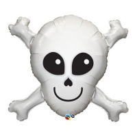 """Фольгированный шар """"Череп с костями"""" (86 см)"""