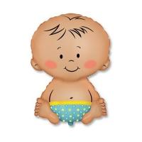 """Фольгированный шар """"Малыш-мальчик"""" (67 см)"""