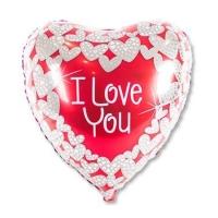"""Фольгированное сердце """"I Love You"""" (95 см)"""