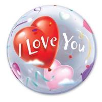 "Шар Bubble ""Шары-сердца"" (56 см)"
