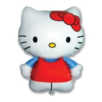 "Фольгированный шар ""Hello Kitty"" красная (67 см)"