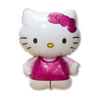 "Фольгированный шар ""Hello Kitty"" розовая (67 см)"