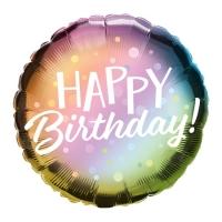 """Фольгированный шар """"Happy Birthday"""" (46 см)"""