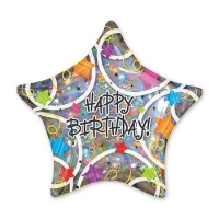 "Фольгированная звезда ""Happy Birthday"" (46 см)"