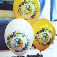 "Шар ""8 марта с цветочками"""