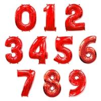 """Фольгированные шары """"Цифры"""" красные (102 см)"""