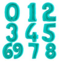 """Фольгированные шары """"Цифры"""" тифанни (102 см)"""