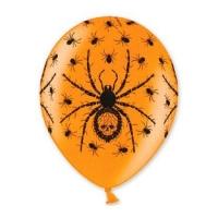"""Шары с рисунком """"Черные пауки"""" (35 см)"""