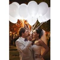 Белые светящиеся шары на свадьбу (30 см)