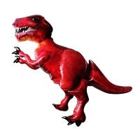 """""""Динозавр"""" красный, Шар Ходячая Фигура (173 см)"""