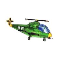 """Шар фигура """"Вертолет"""" зеленый (96 см)"""