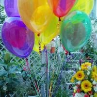 Разноцветные воздушные шарики кристалл ассорти