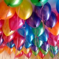 Воздушные шарики металлик (30 см)